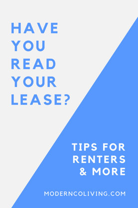 read your rental lease and agreement